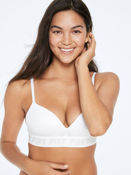 Бюстгальтер Victoria's Secret Pink Wireless пушап без косточек, 36B